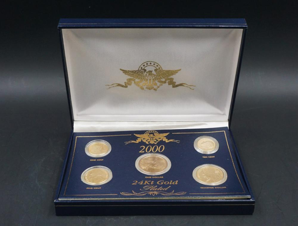 2000 Presidential 24k gold plated coin set