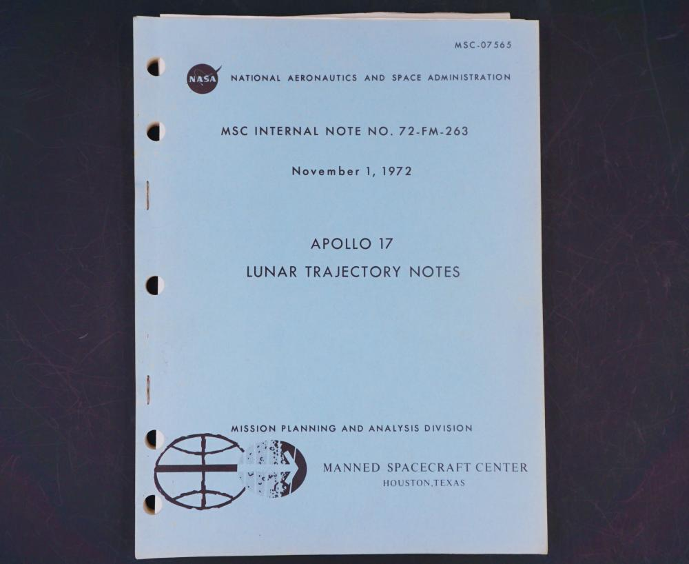 Apollo 17 Lunar Trajectory Notes