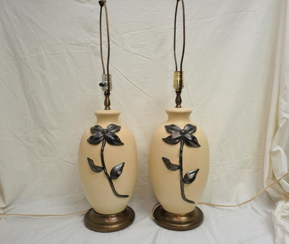 Royal Gouda vintage pottery lamps