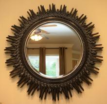 Round star burst mirror