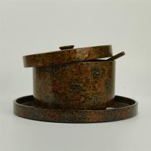 JAPANESE LACQUERED ROUND LIDDED BOX