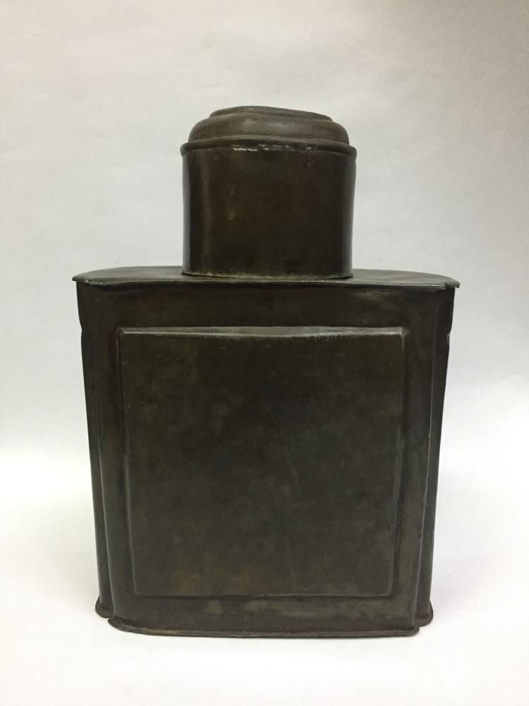 CHINESE TIN LIDDED SQUARE TEA BOX