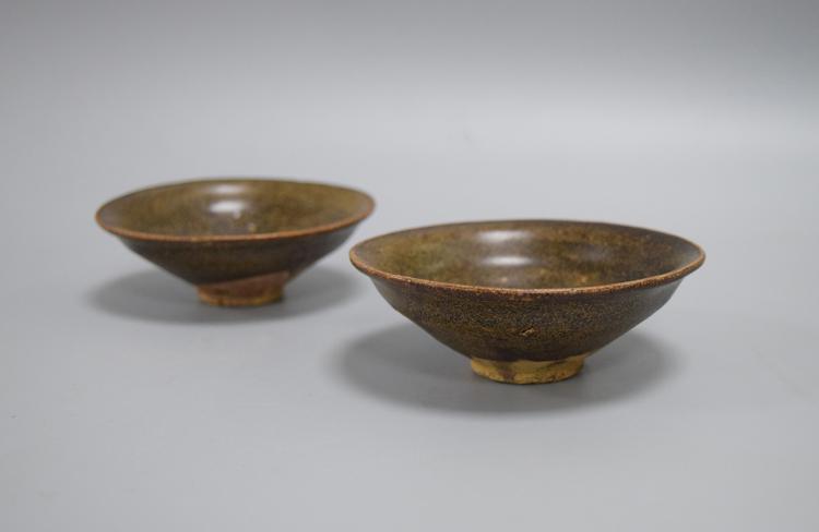 PAIR OF CHINESE PORCELAIN OF JIANYAO KILN TEA BOWLS