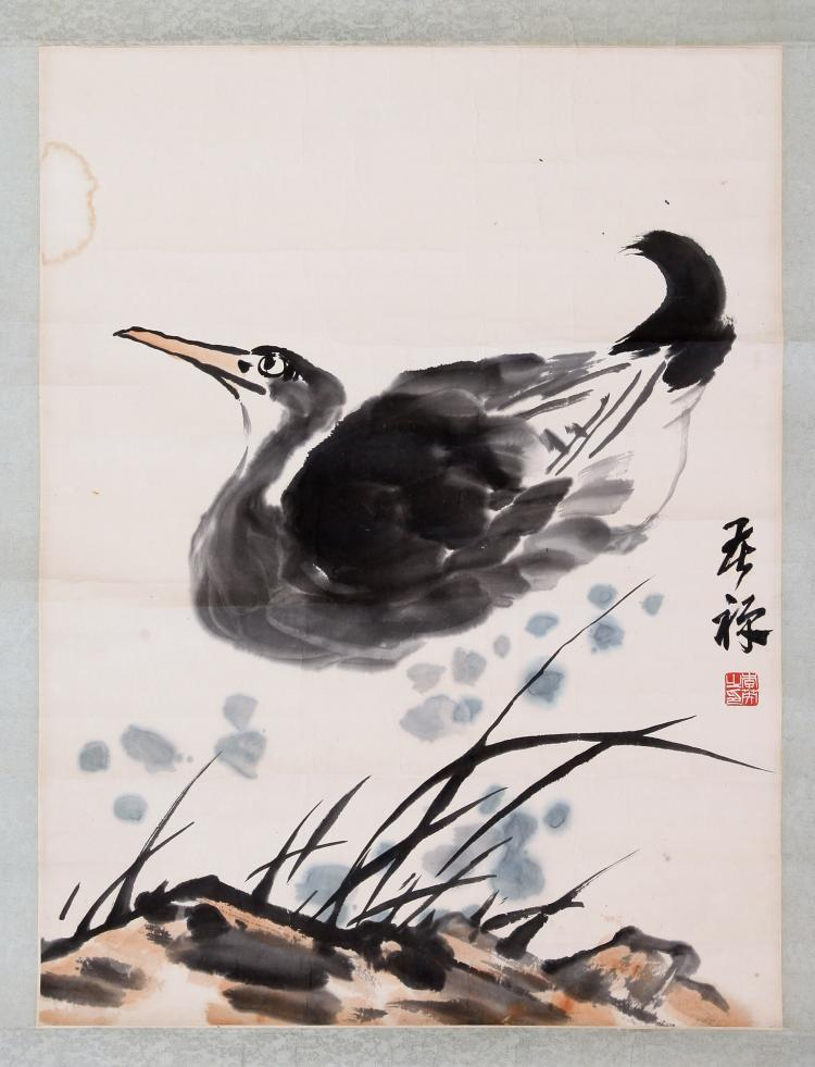 CHINESE SCROLL PAINTING OF DUCK