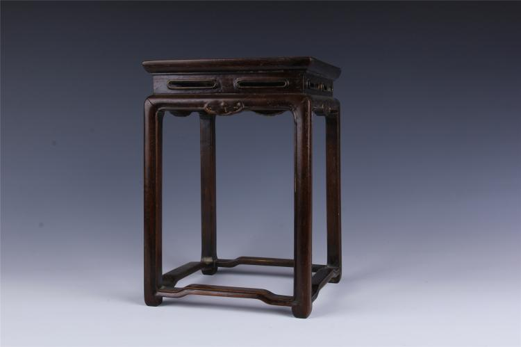 Pair of chinese zitan square planter stands for Chinese furniture newcastle