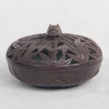 CHINESE BRONZE LIDDED CENSER