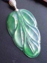 NATURAL JADEITE LEAF PENDANT