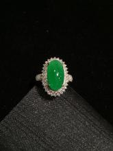 18K GOLD DIAMOND NATURAL JADEITE RING