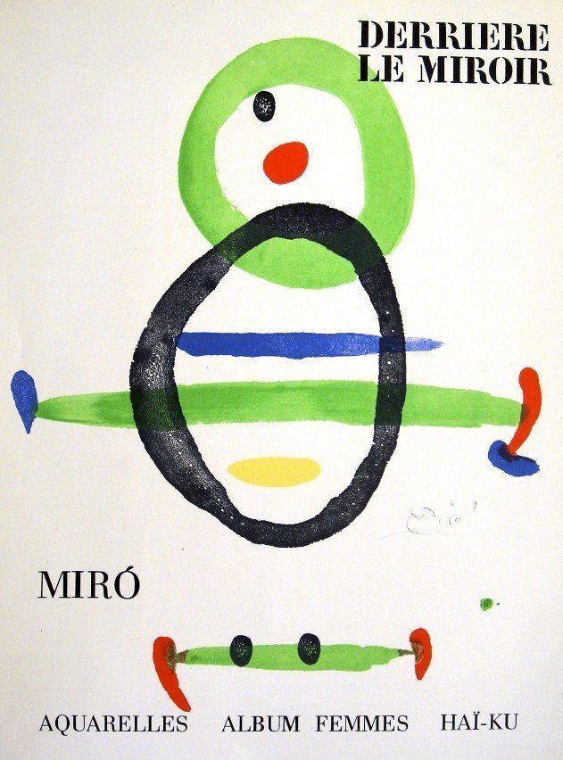 Joan miro derriere le miroir hand signed print in pencil for Le miroir 71