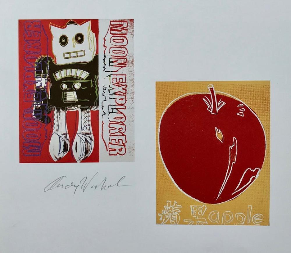"Andy Warhol, ""Moon Explorer - Apple"" Hand signed Print, 1986"