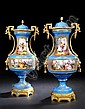 Large Pair of French Gilt-Brass-Mounted Bleu, Jean-Charles Delafosse, Click for value