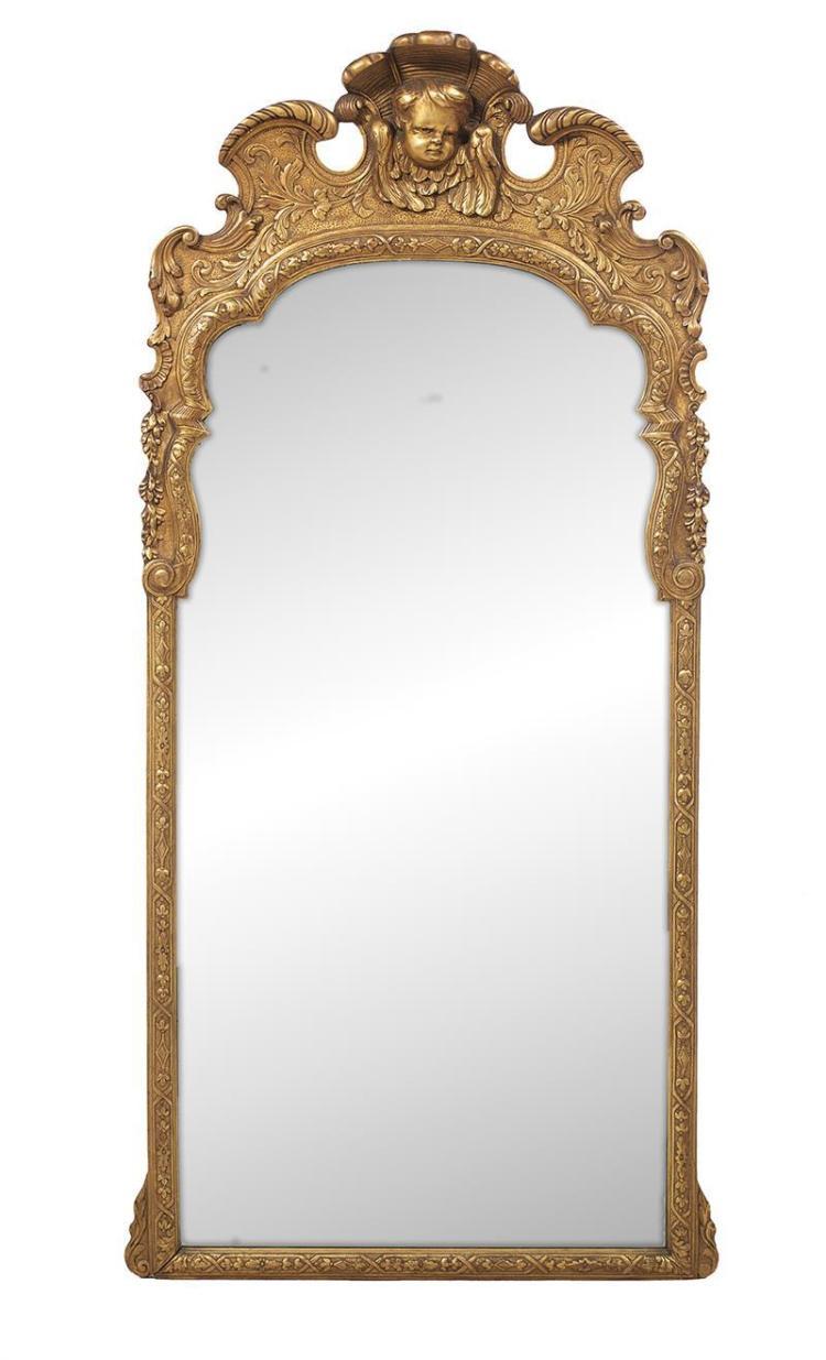 Italian baroque style giltwood mirror for Italian baroque mirror