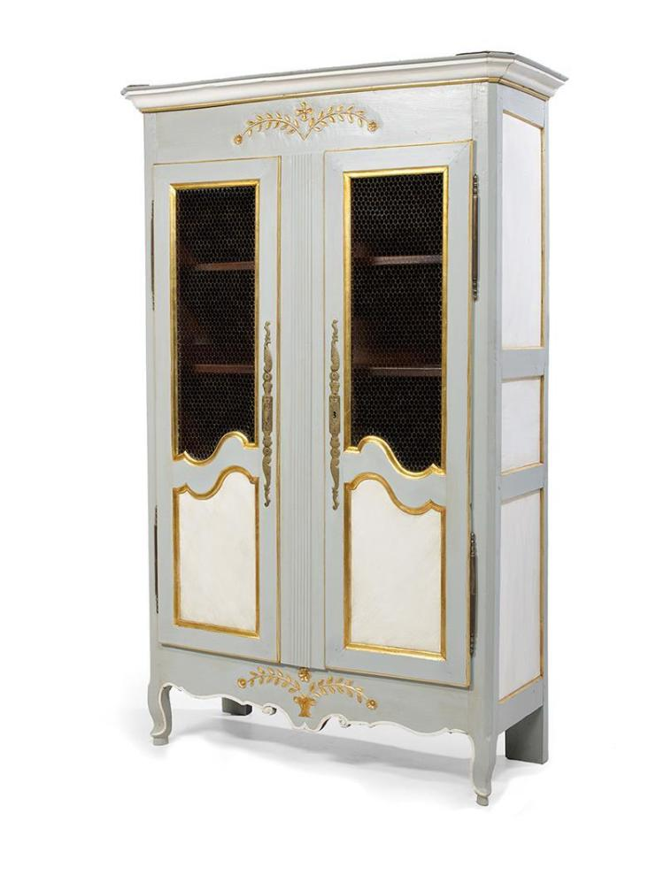 provincial louis xv polychrome armoire bibliotheque. Black Bedroom Furniture Sets. Home Design Ideas