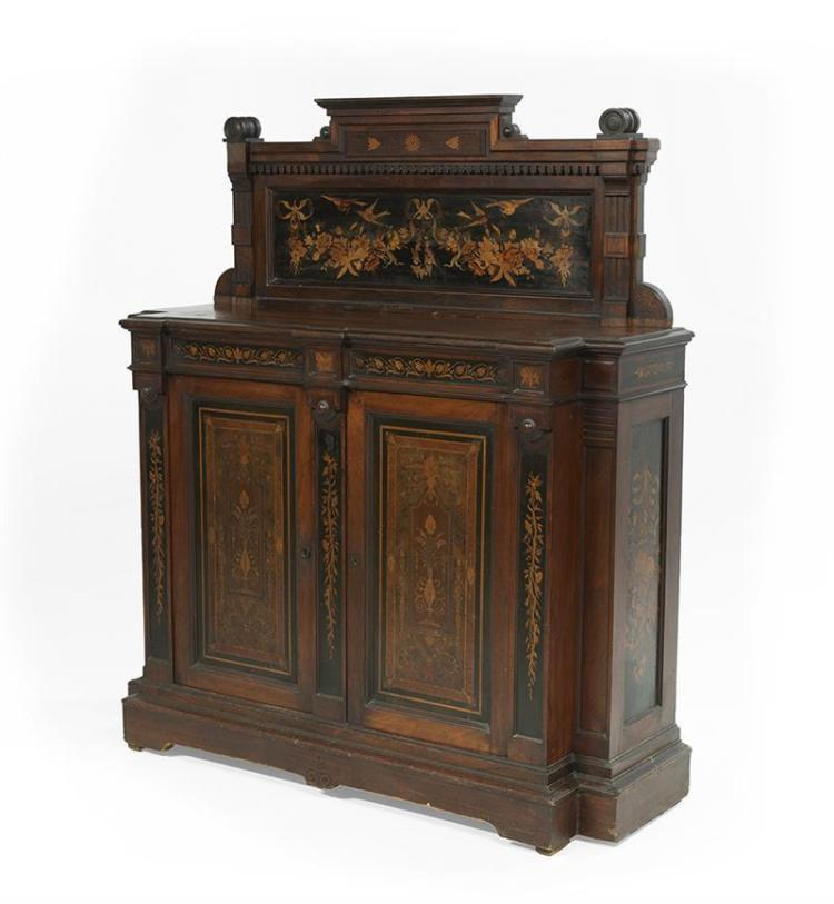 American Renaissance Revival Inlaid Cabinet