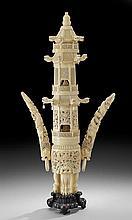 Large Chinese Ivory Incense Burner