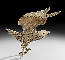 Chinese Carved Ivory Eagle