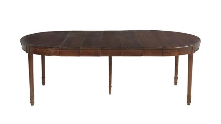 Louis xvi style mahogany dining table for Latest style dining table