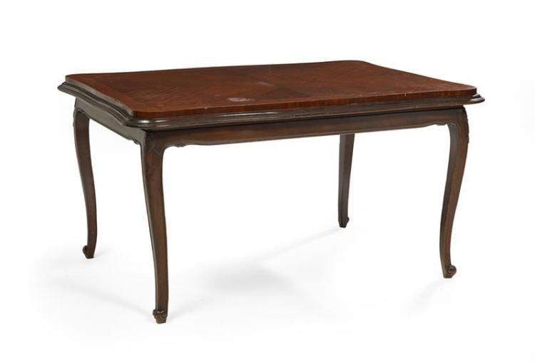 Louis xv style mahogany and mixed woods inlaid dining table for Latest style dining table