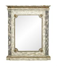 Painted and Parcel-Gilt Mirror in the Continental Neoclassical Taste