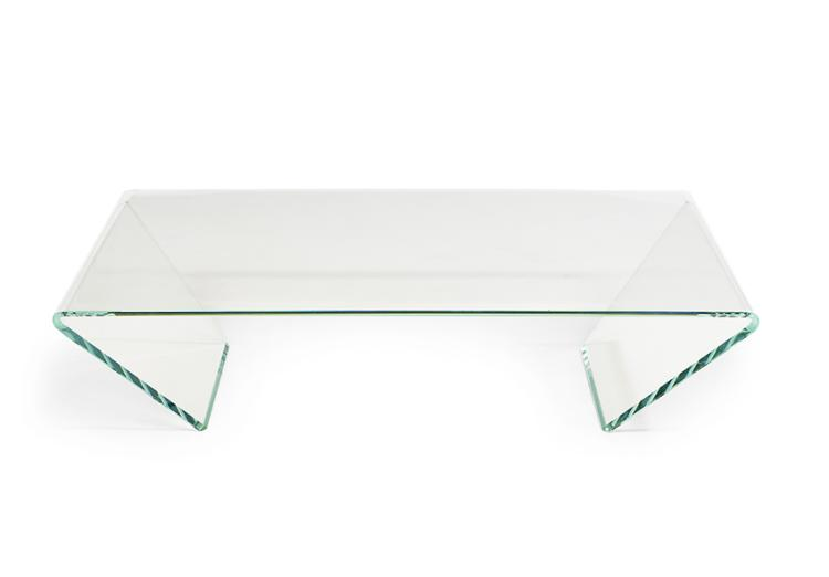 Contemporary glass cocktail table for Contemporary glass cocktail tables