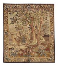 French Tapestry of Fruit Pickers in an Orchard