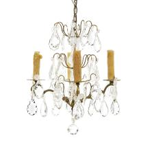 Pair of Louis XIV-Style Bronze Petite Chandeliers