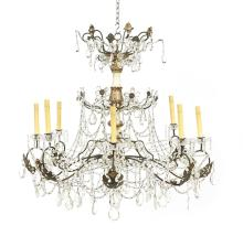French Provincial Crystal Chandelier