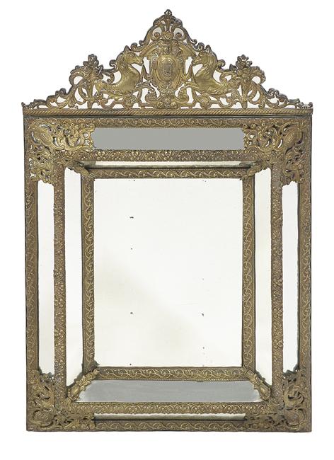 Dutch or flemish baroque style brass mirror for Dutch baroque architecture
