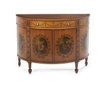 Edwardian-Style Satinwood Cabinet