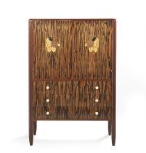 Art Deco Macassar and Acajou Cabinet
