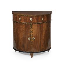 Good Biedermeier Walnut Demi-lune Cabinet