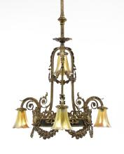 Louis XVI-Style Gilt-Bronze Chandelier