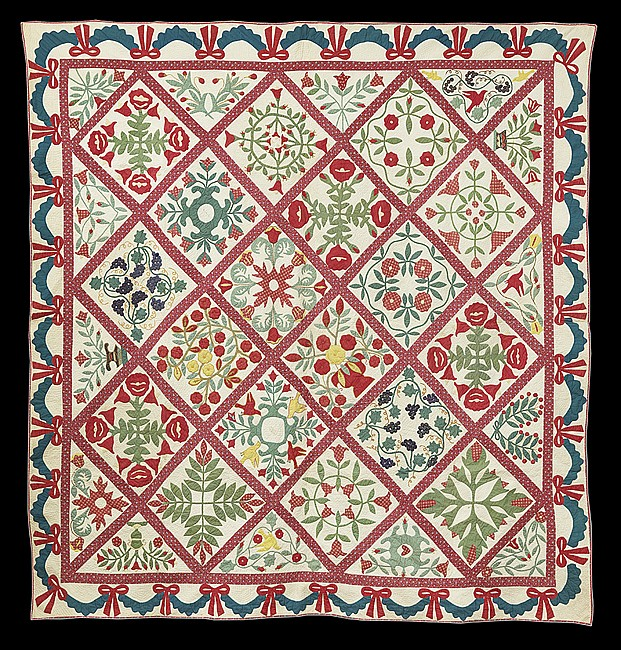 Elizabeth m stansbury baltimore album quilt for M furniture gallery new orleans