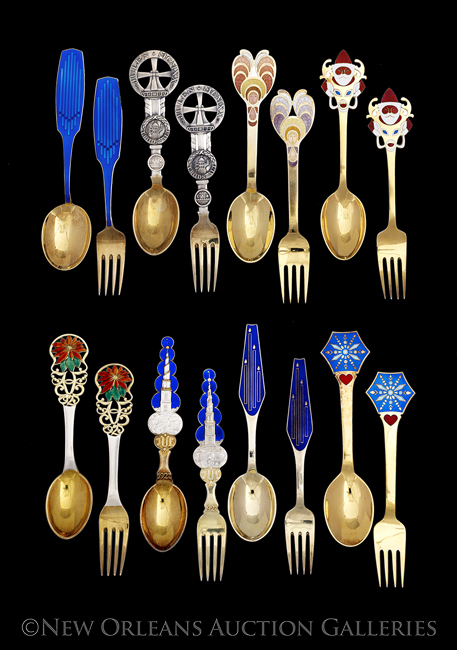 16 Michelsen Annual Christmas Spoons and Forks