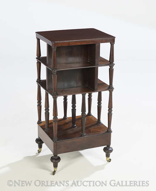 fine william iv rosewood etagere bookcase. Black Bedroom Furniture Sets. Home Design Ideas