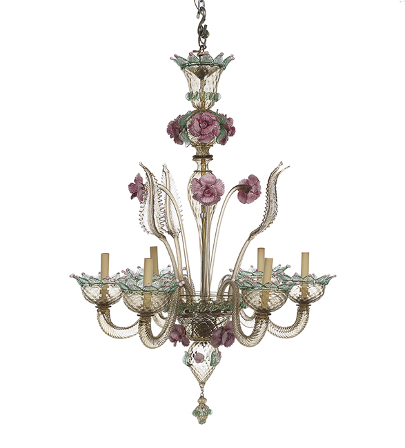 Venetian Murano Hand Blown Glass Chandelier
