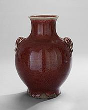 Large Chinese Red-Glazed Vase