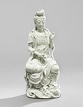 Chinese Blanc-de-Chine Figure of Quan Yin