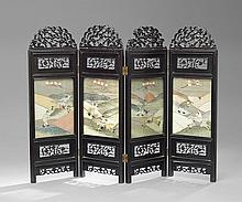 Chinese Four-Panel Folding Table Screen