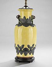 Chinese-Style Yellow Balustrade Vase