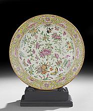 Chinese Export Rose Canton Porcelain Charger