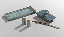 Five-Piece Collection of Chinese Cloisonne