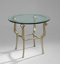 Art Deco-Style Gilt-Metal Occasional Table
