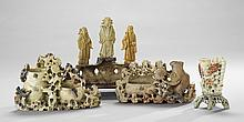 Set of Four Chinese Carved Soapstone Figures