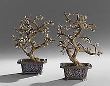 Pair of Chinese Jade Trees