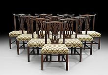 Suite of Ten George III Mahogany Dining Chairs