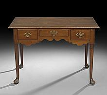 Queen Anne-Style Mahogany Lowboy