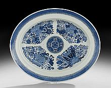 Chinese Blue and White Fitzhugh Platter