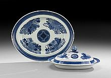 Chinese Export Platter and Covered Vegetable Dish