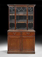 George III Mahogany Bookcase Secretary